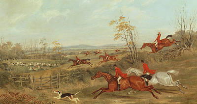 Horse Racing Painting - In Full Cry by James Russell Ryott