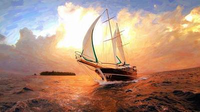 In Full Sail - Oil Painting Edition Art Print