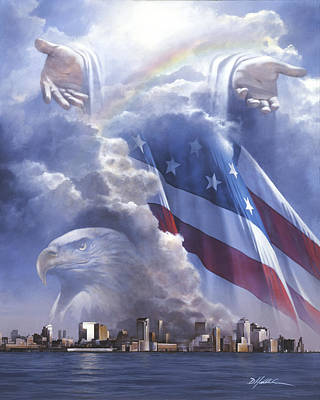 September 11 Painting - In Gods Hands by Danny Hahlbohm
