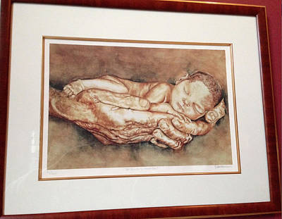 Premature Babies Digital Art - In God's Hands by Dimitra Lebessis