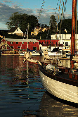 Boats At Dock Photograph - In Harbor by Karol Livote