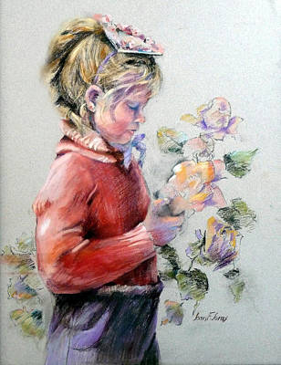 Pastel - In Her Easter Bonnet by Joan  Jones
