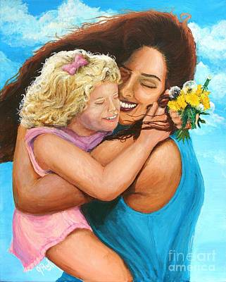Dress Painting - In Her Mother's Arms by Jeremy Reed