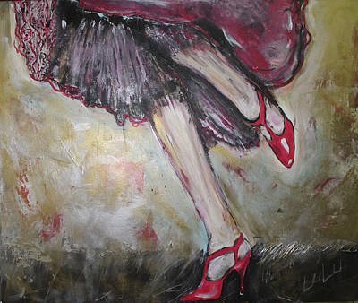 Painting - In Her Shoes by Lucy Matta - Lulu