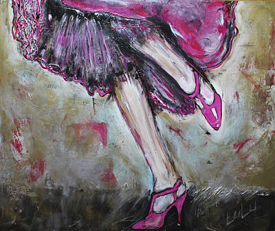 Painting - In Her Shoes Too by Lucy Matta - Lulu