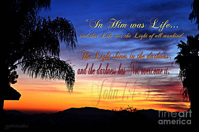 In Him Was Life Art Print by Sharon Soberon