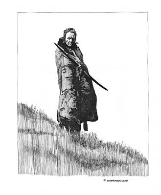Wall Art - Drawing - In His Field by Paul Shafranski