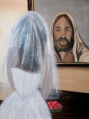 Betrothed Painting - In His Image by Pamorama Jones