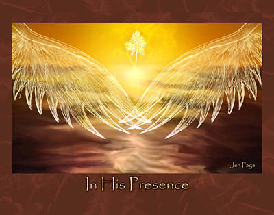 Pages Of Life Digital Art - In His Presence by Jennifer Page