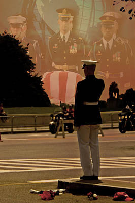 Washington D.c Digital Art - In Honor Of Our Fallen Heroes by Tom Gari Gallery-Three-Photography