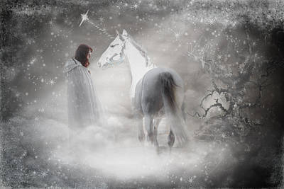 In Honor Of The Unicorn Art Print by Wes and Dotty Weber