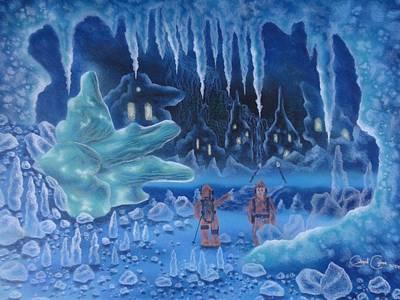 In Icy Depths Art Print