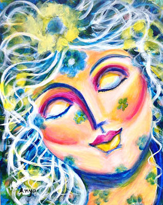 Art Print featuring the painting In Love by Anya Heller