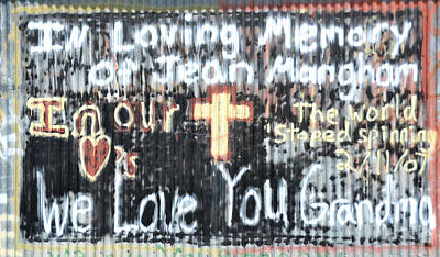 Photograph - In Loving Memory Graffiti by RD Erickson