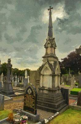 Tombstone Digital Art - In Loving Memory by Jeffrey Kolker