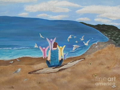 Art Print featuring the painting In Meditation by Cheryl Bailey