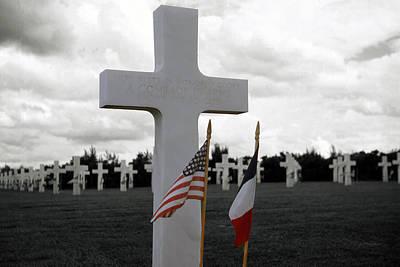 National Cemetery Digital Art - In Memorial Veterans Cemetery by Cathy Anderson