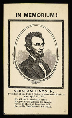 Politicians Royalty-Free and Rights-Managed Images - In Memoriam Abraham Lincoln by Celestial Images