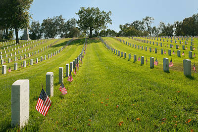 Photograph - In Memorium - Los Angeles National Cemetery by Ram Vasudev