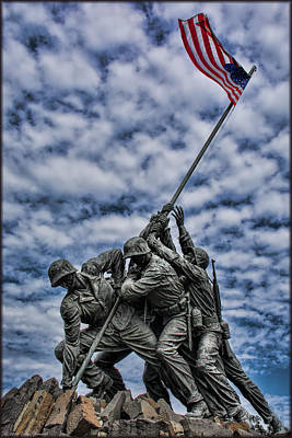 Photograph - In Memory - Us Marine Core by Erika Fawcett