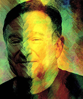 In Memory Of Robin Williams Art Print by Ally  White