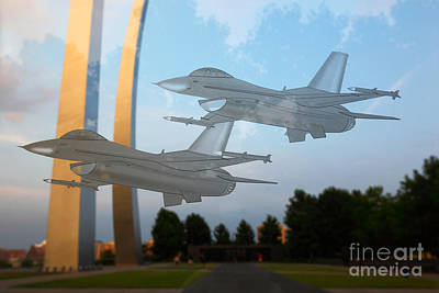 Missing Man Formation Photograph - In Memory Of The Missing Man by James Brunker