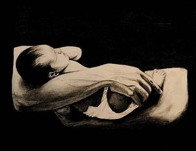 In My Arms Art Print by Caroline  Reid