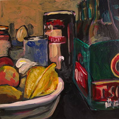 Print featuring the painting In My Fridge by Tilly Strauss
