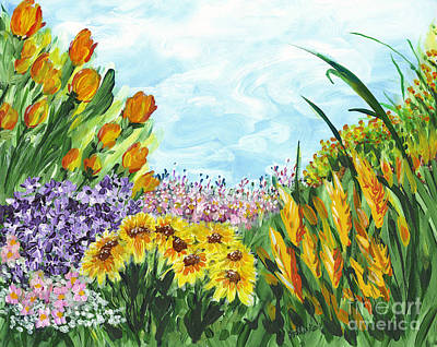 Painting - In My Garden by Holly Carmichael