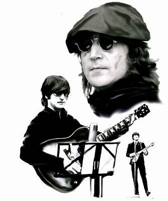 In My Life  John Lennon Art Print by Iconic Images Art Gallery David Pucciarelli