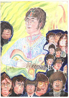 Fab Four Drawing - In My Life by Moshe Liron