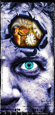 Self-portrait Mixed Media - In My Minds Eye by Paul Moore