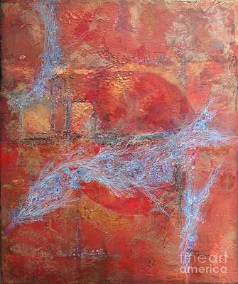 Mixed Media - In Need For Red by Delona Seserman