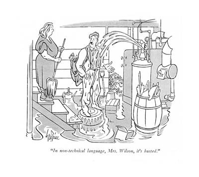 Plumbers Drawing - In Non-technical Language by George Price