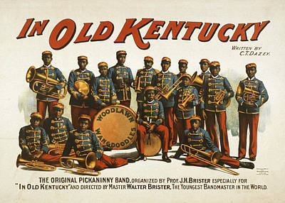 Trombone Drawing - In Old Kentucky by Aged Pixel
