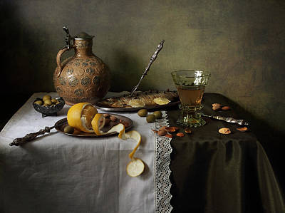 Still Life With Fish Photograph - In Olive Tones  by Helen Tatulyan
