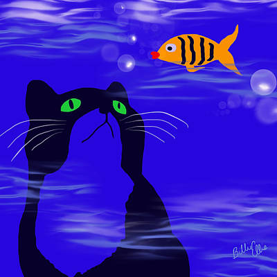 Animal Lover Digital Art - In Or Out? by Billie Jo Ellis