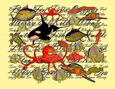 Surrealism Digital Art - In Our Sea by Betsy Knapp