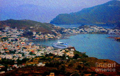 Baptist Mixed Media - In Port At Patmos by John Kreiter