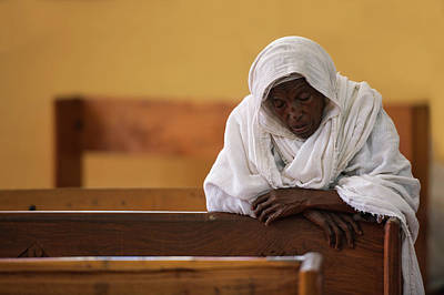 Church Lady Photograph - In Prayer by