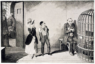 Cruikshank Photograph - In Prison by British Library