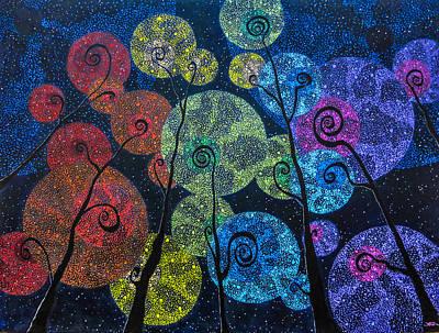 Painting - In Rainbows by Joel Tesch
