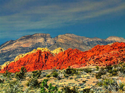 In Red Mountain 1 Art Print