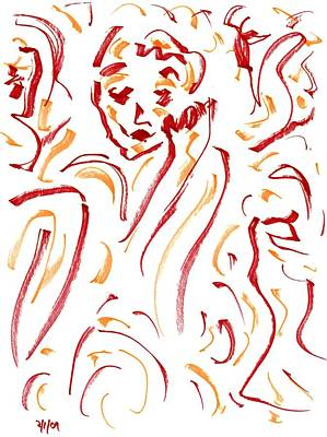 In Red Art Print