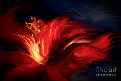 Hibiscus Painting - In Red by Shanina Conway
