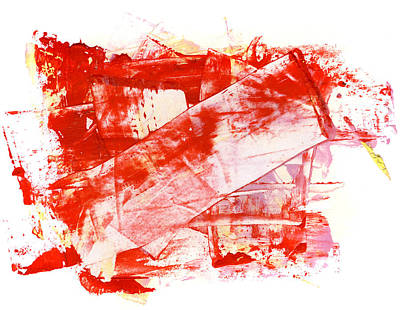Vivid Colour Painting - In Reds by Modern Art Prints