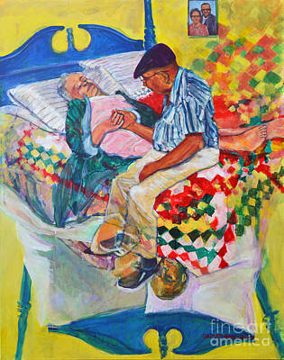 Bed Quilts Painting - N Sickness And N Health by Charles M Williams