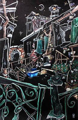 In Sospensione - Wallpaper Venice Italy - Venedig Kunstausstellung Art Print by Arte Venezia