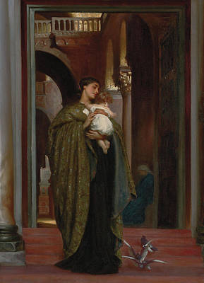 Dove Painting - In St Mark's by Frederic Leighton