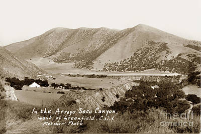 Photograph - In The Arroyo Seco Canyon West Of Greenfield Calif Circa 1930 by California Views Mr Pat Hathaway Archives